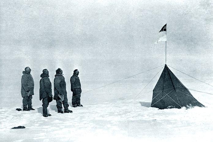 Equipo noruego expedicion Polo Sur