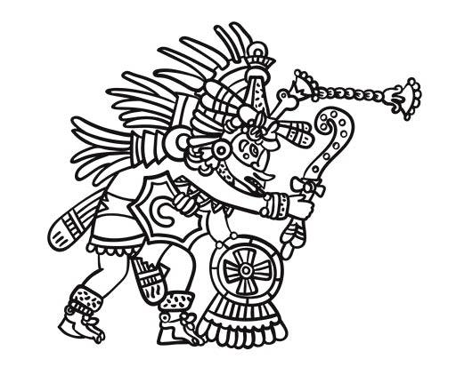 Escritura azteca - Símbolos religiosos
