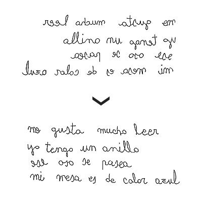 Escritura en espejo - Ejemplo 1