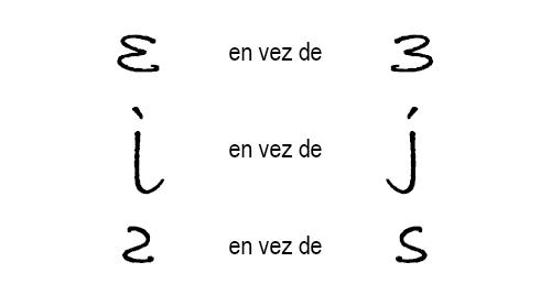 Escritura en espejo - Ejemplo 3