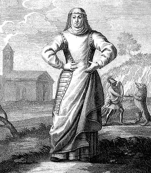 Recreación de Froiluba en un grabado del s.XVIII