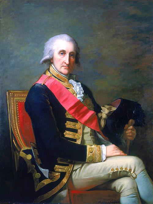 Retrato de Lord George Rodney