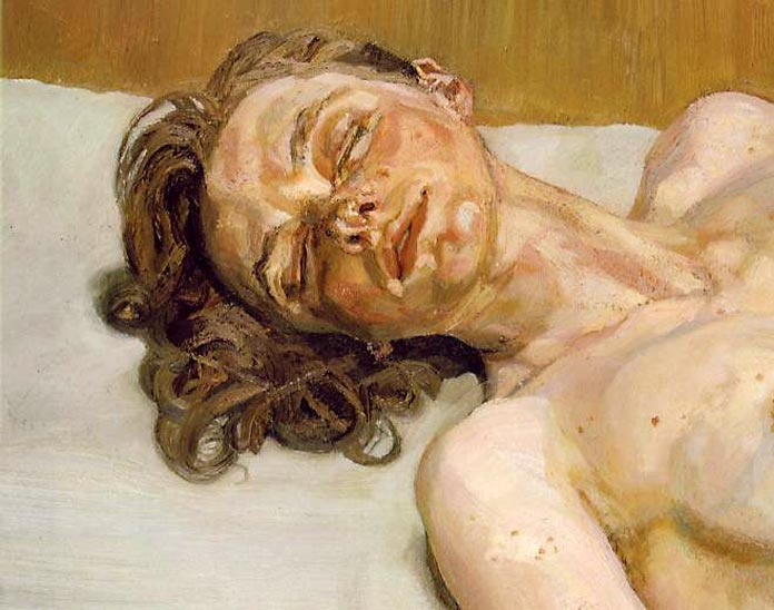 Girl with eyes closed, Lucian Freud