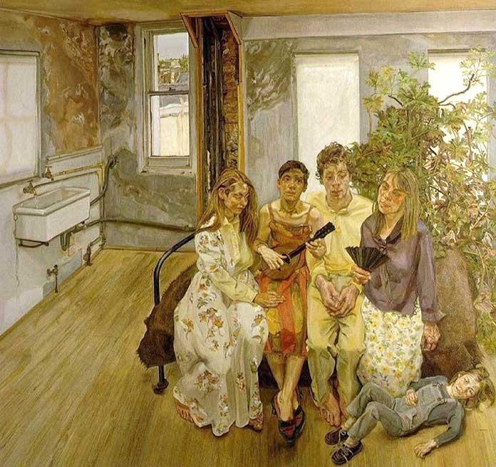 Lucian Freud - Gran Interior W11, 1983