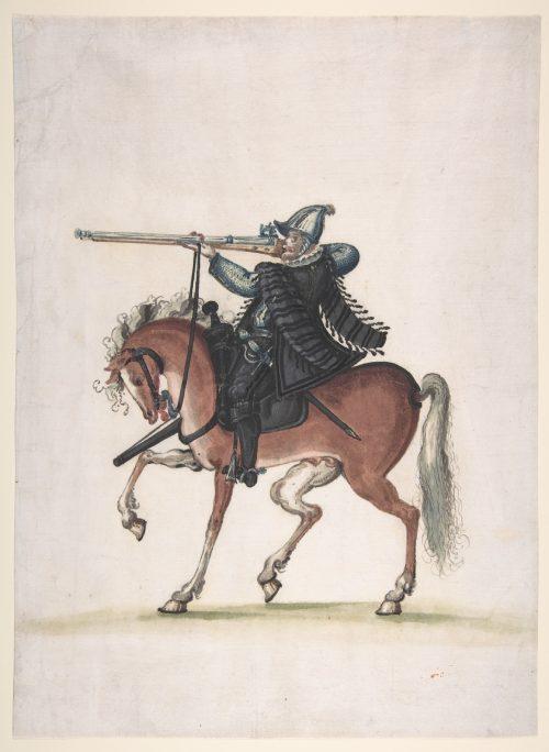 Guerreros medievales: arcabucero