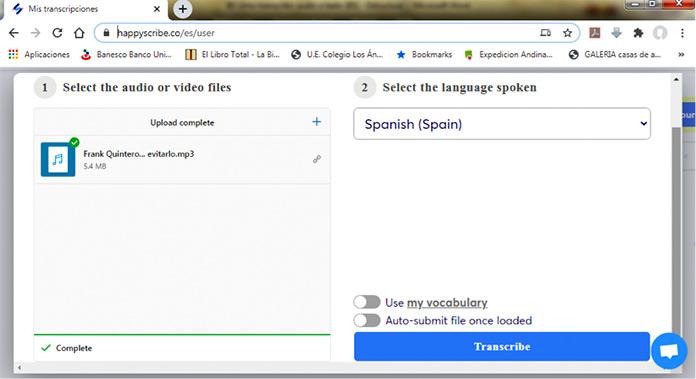 Cómo transcribir audio a texto con HappyScribe