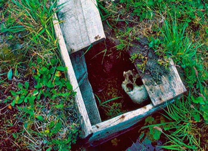 Tumba encontrada en la Isla Herschel