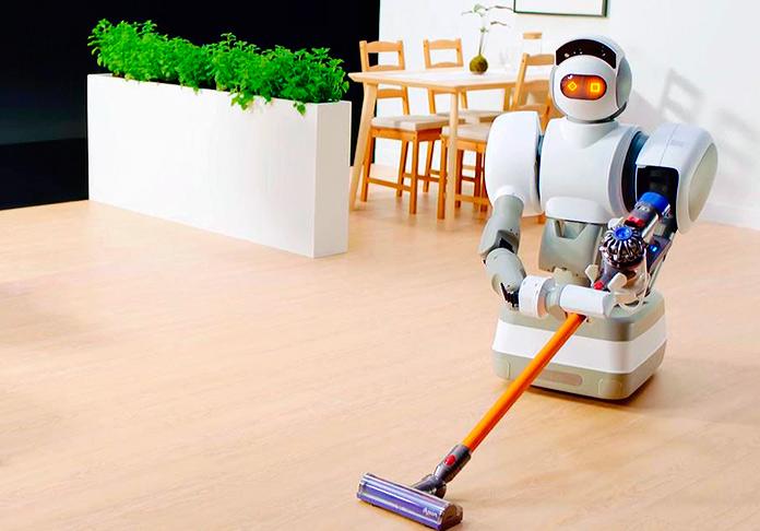 Aeolus Robot pasando la aspiradora