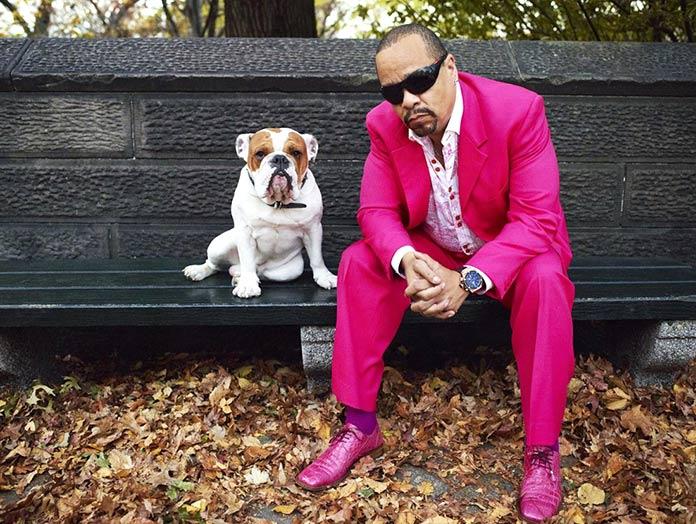Ice-T con su bulldog Maximus