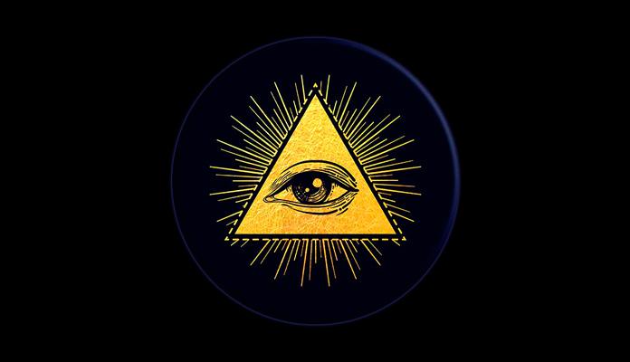 El Ojo de la Providencia, símbolo de los Illuminati.