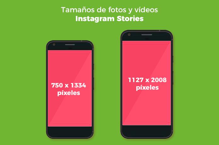 fotos para Instagram Stories: Tamaños