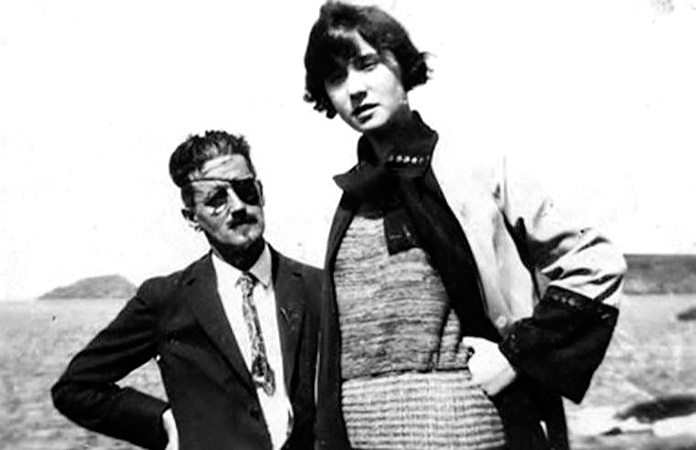 Fotografía de James Joyce junto a Nora Barnacle.