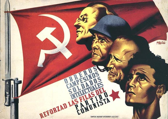 Josep Renau: Obreros, campesinos, soldados, intelectuales, reforzad las filas del Partido Comunista (1936)