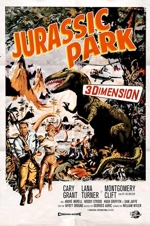 "Cartel de ""Jurassic Park"" (1959)"