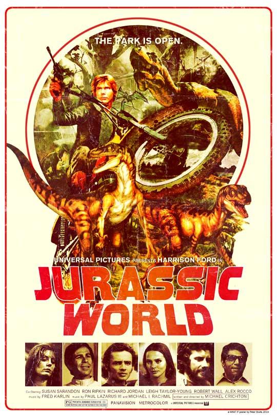 """Cartel de """"Jurassic World"""" (1976)"""