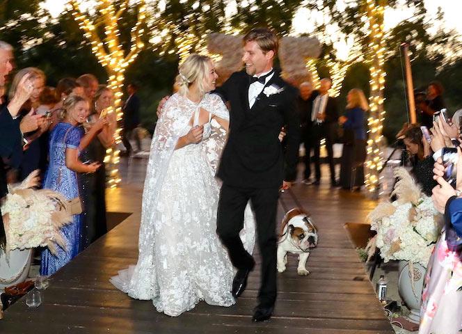 Kaley Cuoco y Karl Cook recién casados