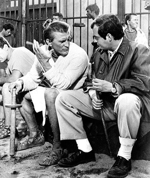 Kirk Douglas y Stanley Kubrick