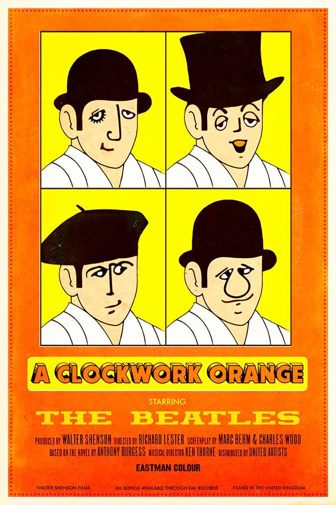 """Cartel de """"La naranja mecánica"""" (1966"""