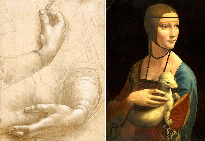 Dibujo La dama del armiño