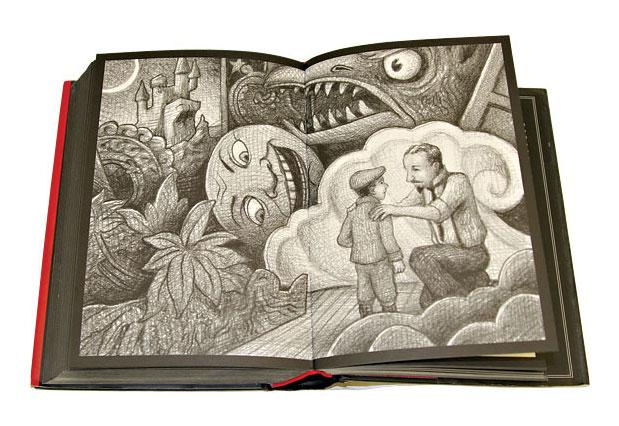 Ilustración de 'La invención de Hugo Cabret'