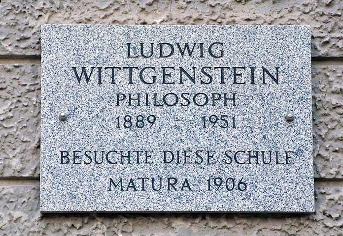 Lápida de la tumba de Ludwig Wittgenstein.