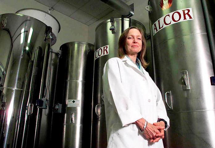 Linda Chamberlain, cofundadora de la Fundación Alcor Life Extension, Scottsdale, Arizona
