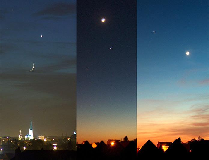 El Lucero del alba y la luna