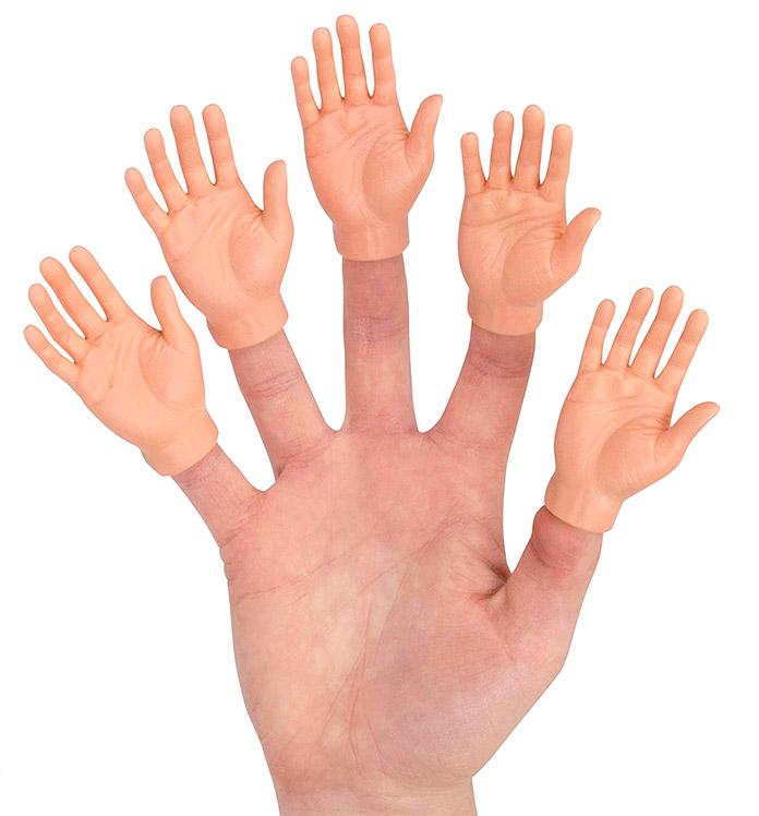 Producto extraño de Amazon - Manos en miniatura para los dedos