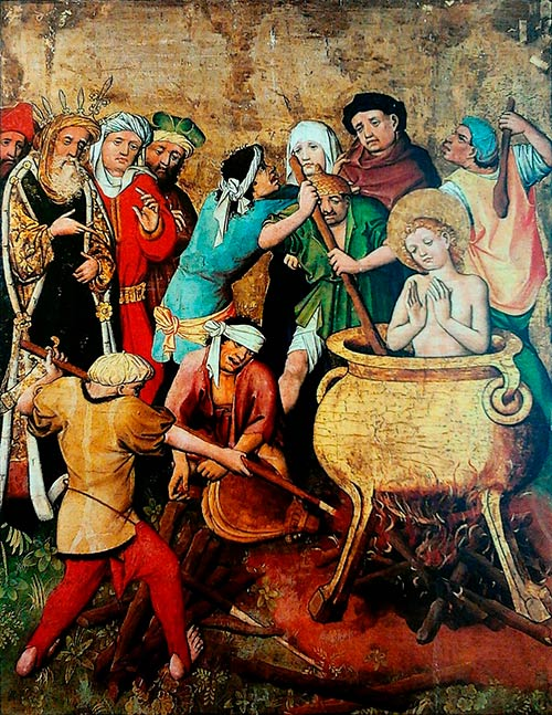 San Vito murió torturado en aceite hirviendo