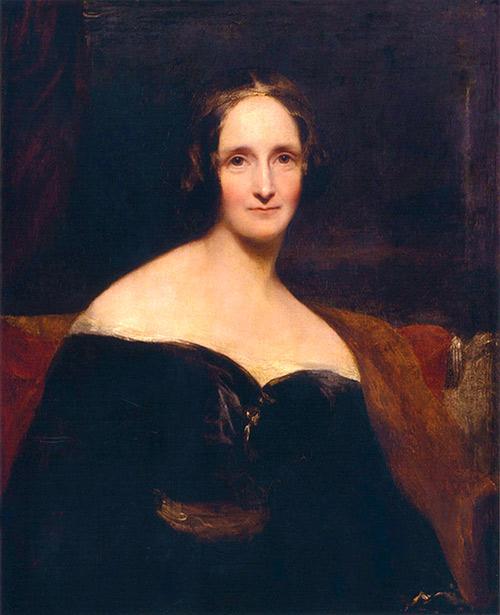 Retrato de Mary Shelley