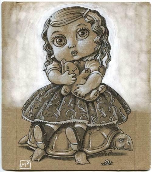 Marzo Mariani - Girl On Turtle