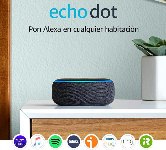 Mayores descuentos Amazon - Eco Dot 3ª Generación