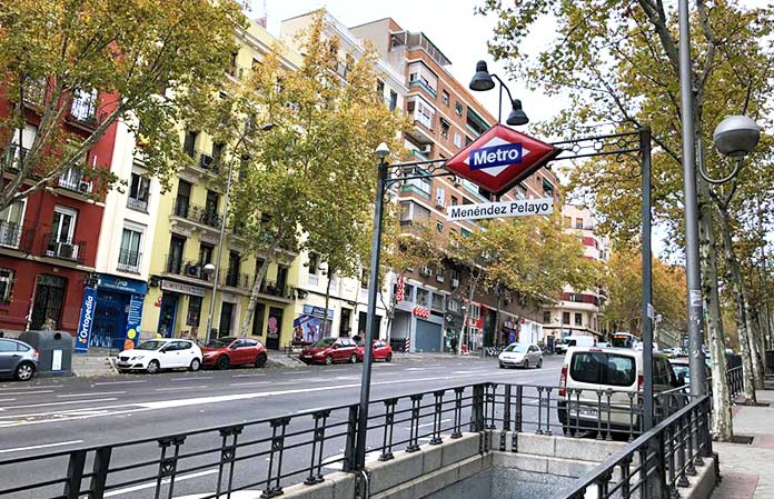 Metro literario Menéndez Pelayo