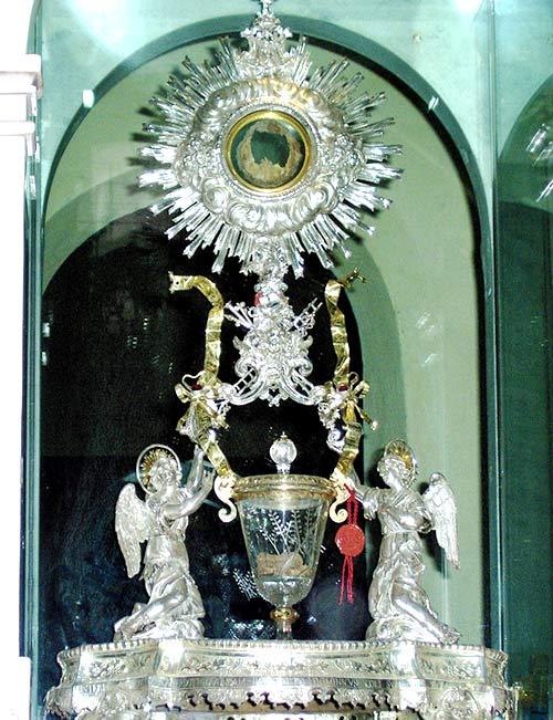 Reliquias del milagro de Lanciano