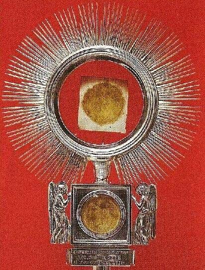 Reliquias del milagro de Casia