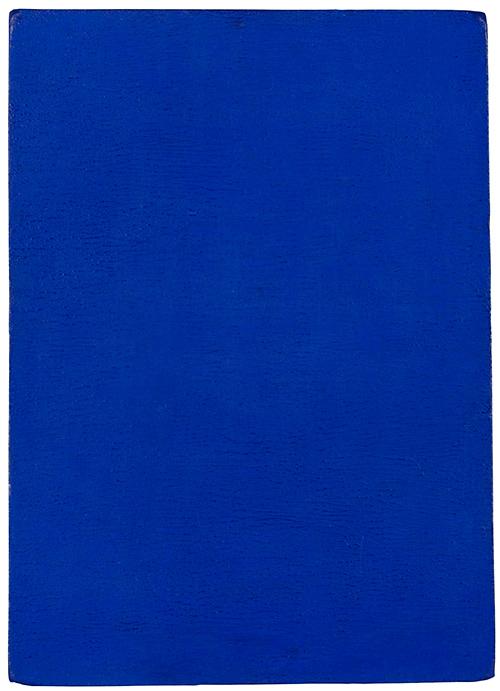 Monocromo azul sin título