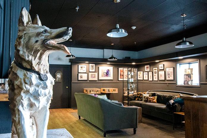 Escultura de perro en el Museo del Perro