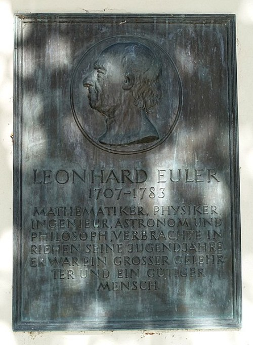 Numero PI: Placa en Memoria de Leonhard Euler
