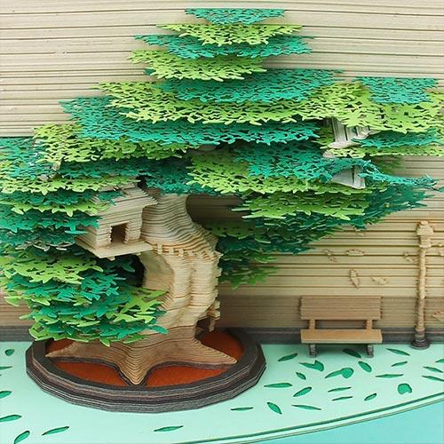 Omoshiroi Bloc de notas Casa del árbol