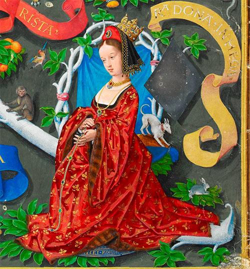 Oneca, Reina de Pamplona (imagen de la Genealogía de los Reyes de Portugal / António de Holanda)
