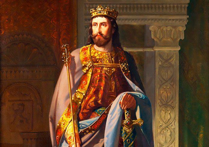 Ordoño III rey de León y su esposa Urraca Fernández.