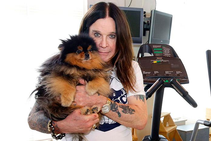 Ozzy Osburne con su perro