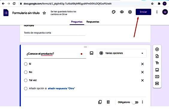 Páginas para hacer encuestas - Finalizar formulario Google Forms