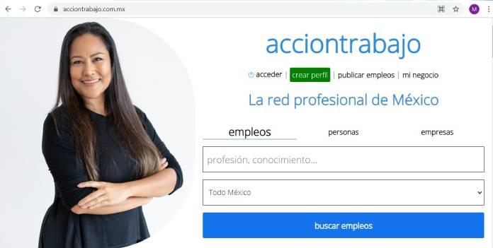 Páginas de empleo en México - AcciónTrabajo