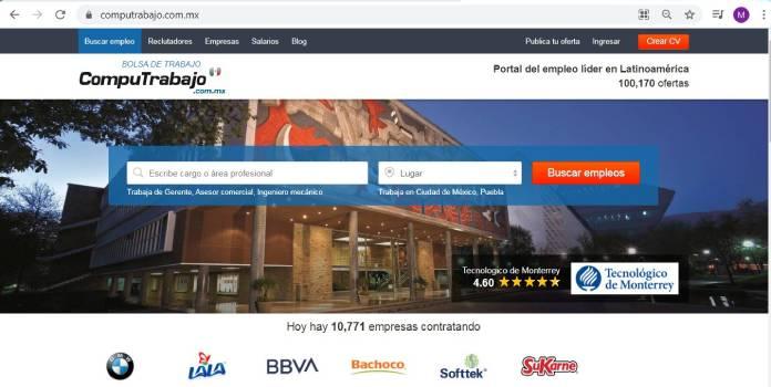 Páginas de empleo en México - Computrabajo