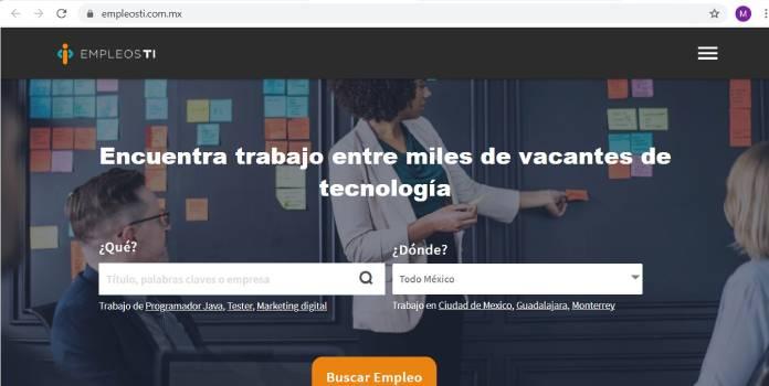 Páginas de empleo en México - EmpleosTI
