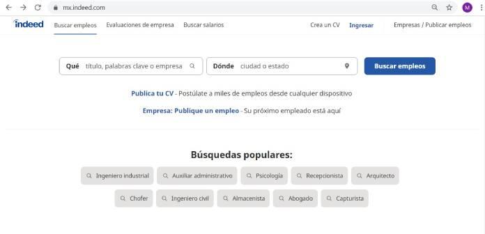 Páginas de empleo en México - Indeed