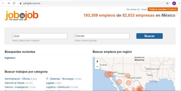 Páginas de empleo en México - Jobisjob