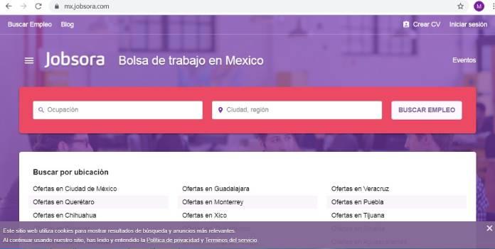 Páginas de empleo en México - Jobsora