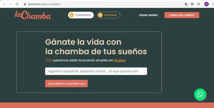 Páginas de empleo en México - LaChamba